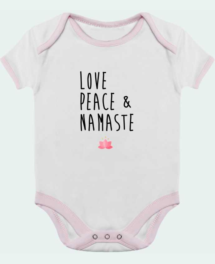 Body Bebé Contraste Love, Peace & Namaste por tunetoo