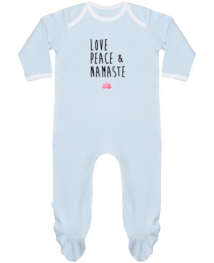 Pijama Bebé Manga Larga Contraste Love, Peace & Namaste por tunetoo