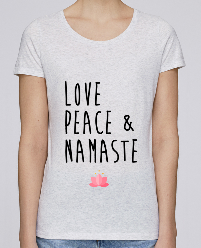 Camiseta Mujer Stellla Loves Love, Peace & Namaste por tunetoo