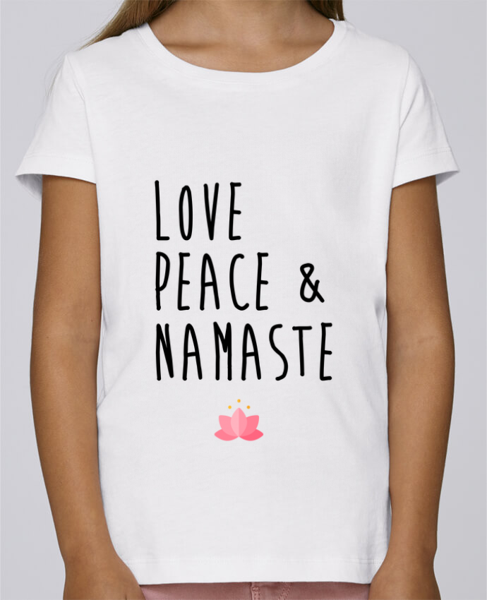 Camiseta Niña Stella Draws Love, Peace & Namaste por tunetoo