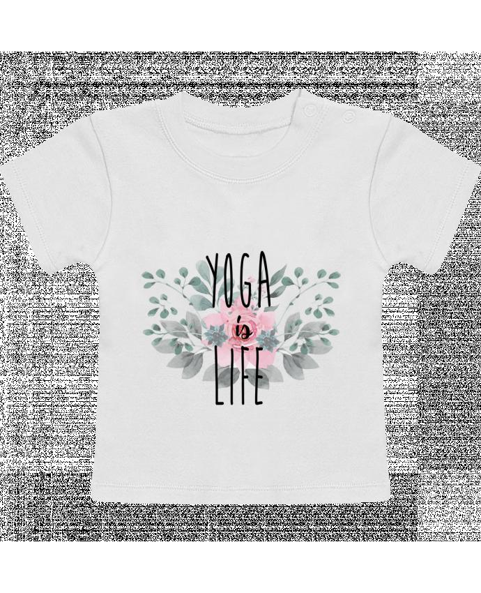 Camiseta Bebé Manga Corta Yoga is life manches courtes du designer tunetoo
