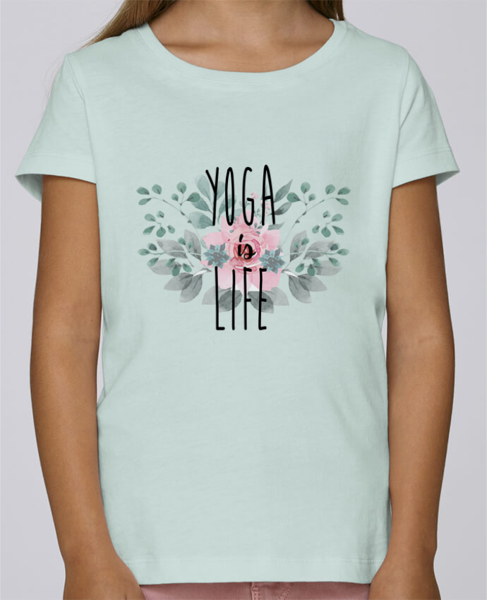 Camiseta Niña Stella Draws Yoga is life por tunetoo