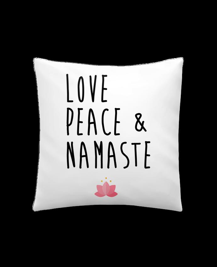 Cojín Sintético Suave 45 x 45 cm Love, Peace & Namaste por tunetoo
