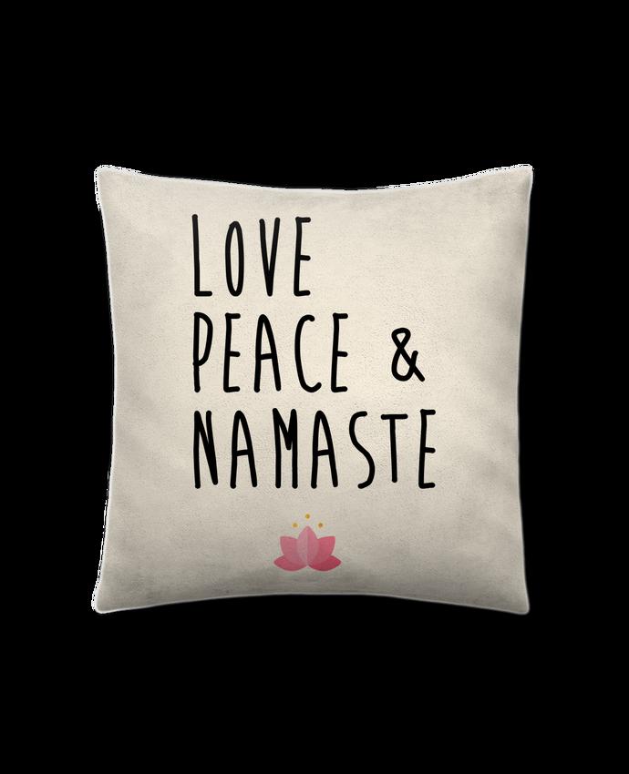 Cojín Piel de Melocotón 45 x 45 cm Love, Peace & Namaste por tunetoo