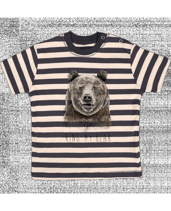 Camiseta Bebé a Rayas Ring my bear por Balàzs Solti