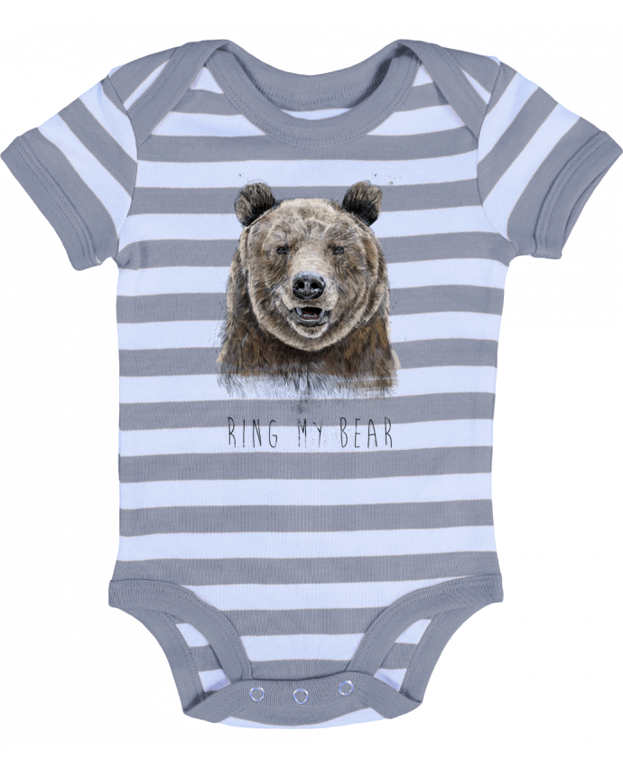 Body Bebé a Rayas Ring my bear - Balàzs Solti
