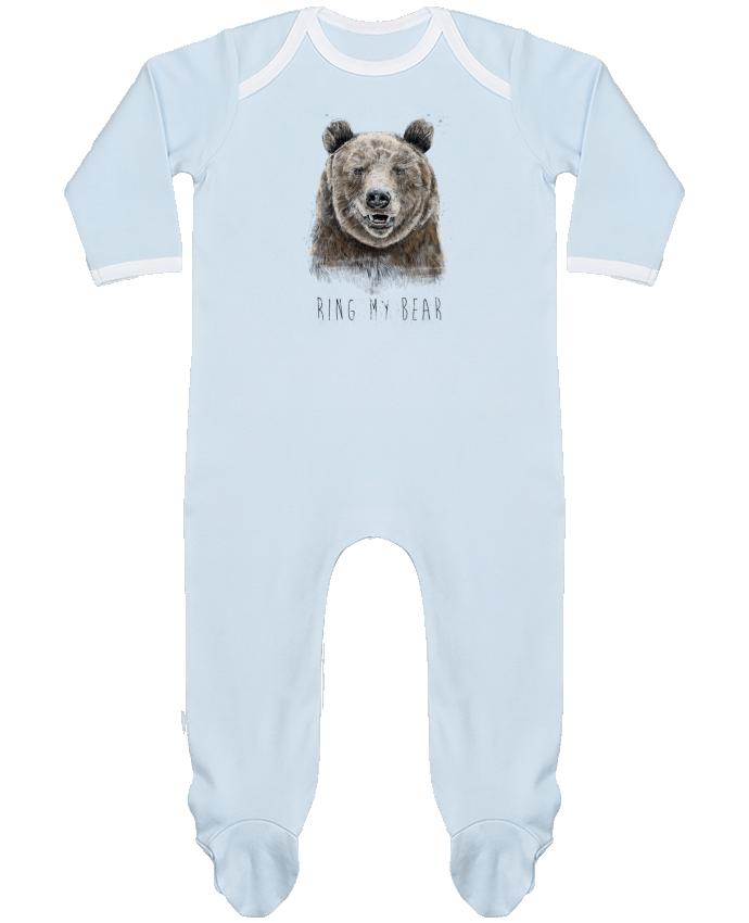 Pijama Bebé Manga Larga Contraste Ring my bear por Balàzs Solti