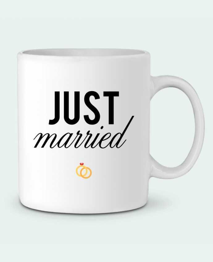Taza Cerámica Just married por tunetoo