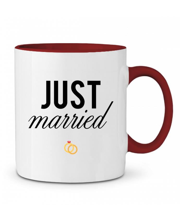 Taza Cerámica Bicolor Just married tunetoo