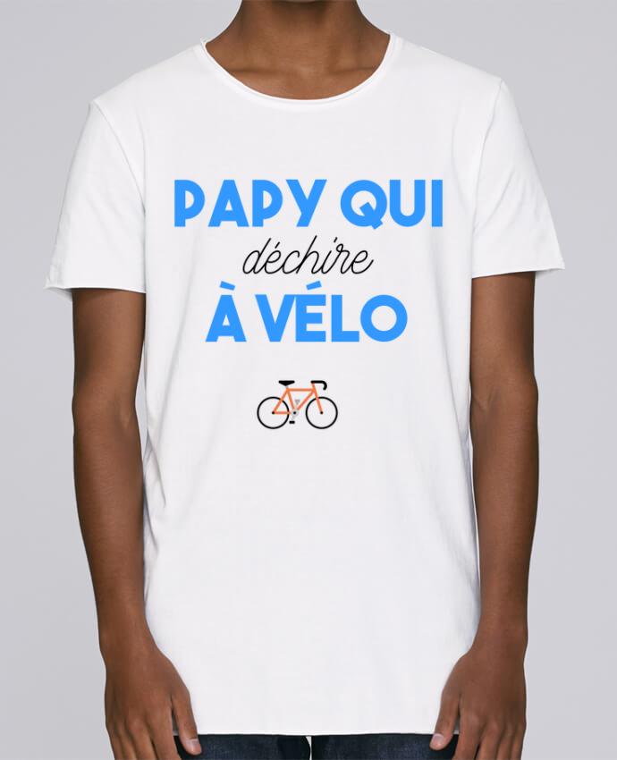 Camiseta Hombre Tallas Grandes Stanly Skates Papy qui déchire à Vélo por tunetoo