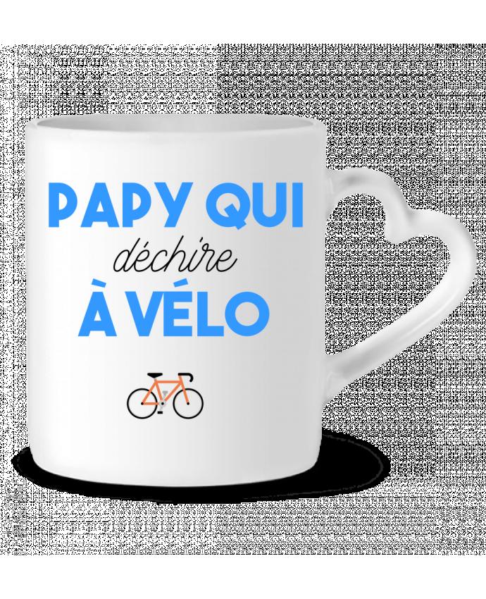 Taza Corazón Papy qui déchire à Vélo por tunetoo