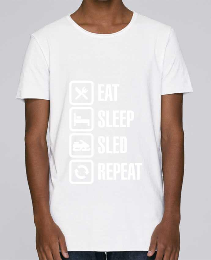 Camiseta Hombre Tallas Grandes Stanly Skates Eat, sleep, sled, repeat por LaundryFactory
