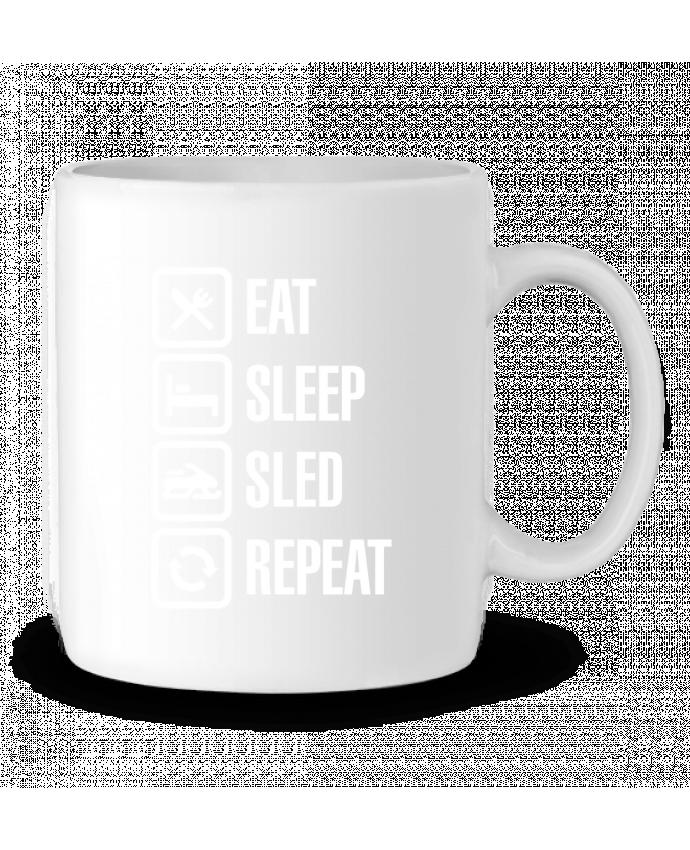 Taza Cerámica Eat, sleep, sled, repeat por LaundryFactory