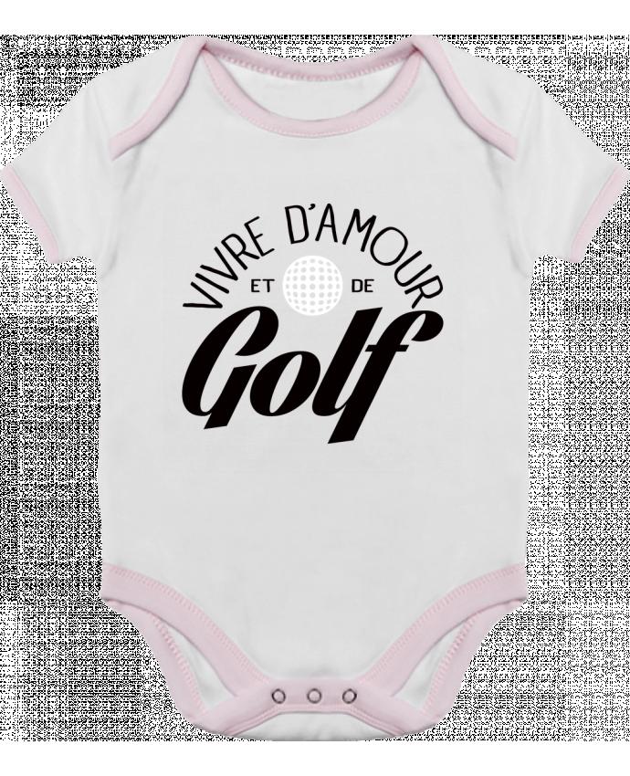 Body Bebé Contraste Vivre d'Amour et de Golf por Freeyourshirt.com