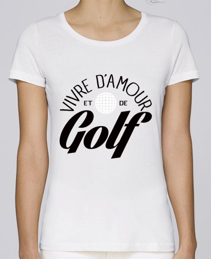 Camiseta Mujer Stellla Loves Vivre d'Amour et de Golf por Freeyourshirt.com