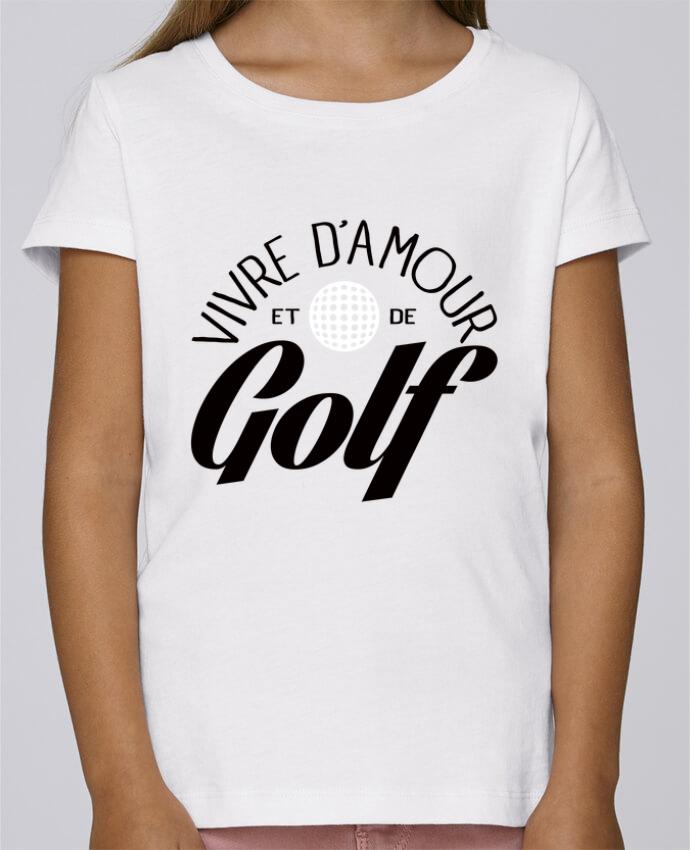 Camiseta Niña Stella Draws Vivre d'Amour et de Golf por Freeyourshirt.com