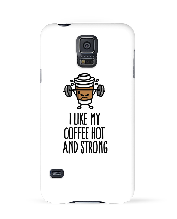 Carcasa Samsung Galaxy S5 I like my coffee hot and strong por LaundryFactory