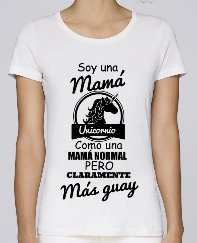 Camiseta Mujer Stellla Loves Mamá unicornio por tunetoo