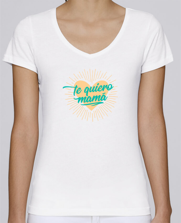 Camiseta Mujer Cuello en V Stella Chooses te quiero mamá por tunetoo
