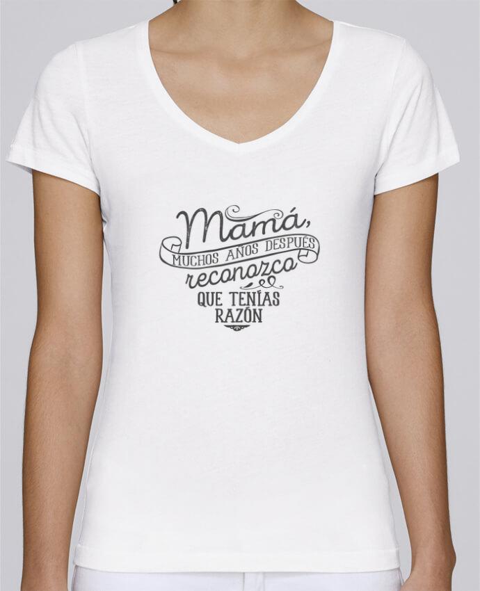Camiseta Mujer Cuello en V Stella Chooses Mamá tenías razón por tunetoo
