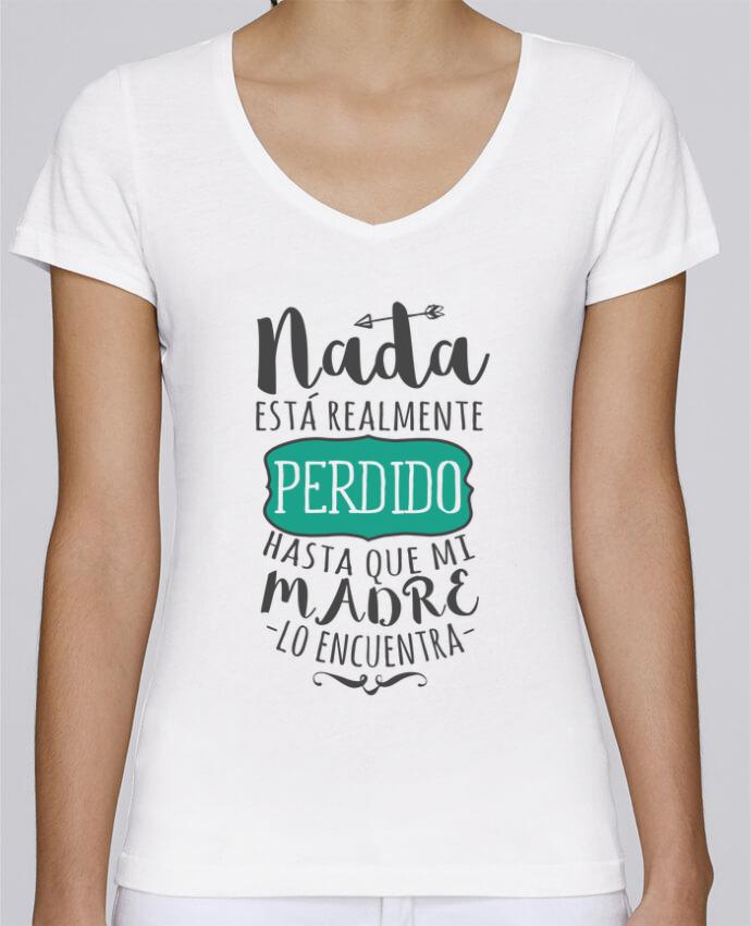Camiseta Mujer Cuello en V Stella Chooses Nada está perdido por tunetoo