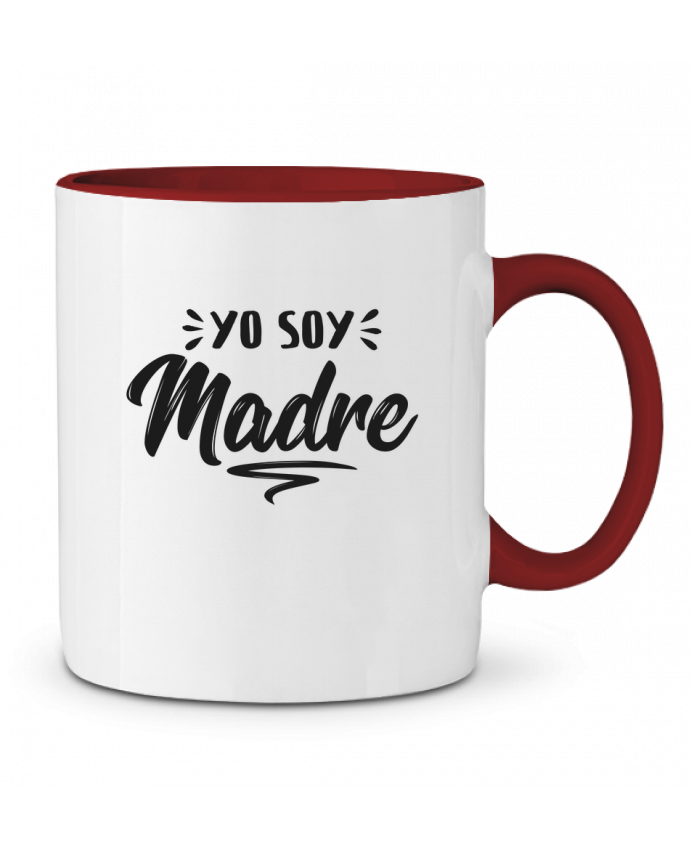 Taza Cerámica Bicolor Soy madre tunetoo