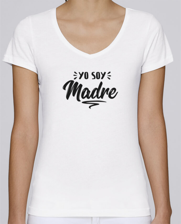Camiseta Mujer Cuello en V Stella Chooses Soy madre por tunetoo