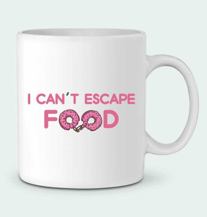 Taza Cerámica I can't escape food por tunetoo