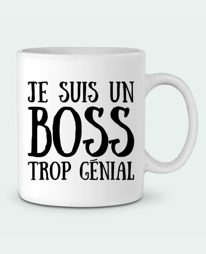 Taza Cerámica Je suis un boss trop génial por tunetoo