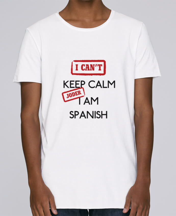Camiseta Hombre Tallas Grandes Stanly Skates I can't keep calm jorder I am spanish por tunetoo