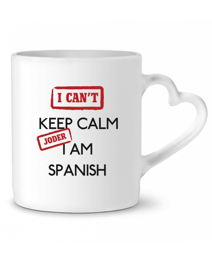 Taza Corazón I can't keep calm jorder I am spanish por tunetoo