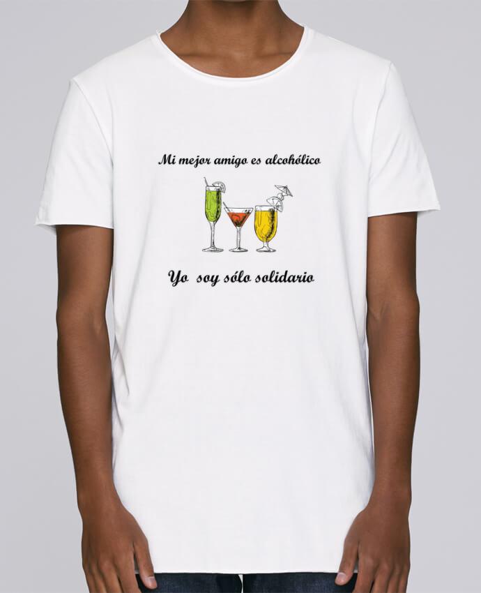 Camiseta Hombre Tallas Grandes Stanly Skates Mi mejor amigo es alcohólico, yo soy sólo solidario por tunetoo