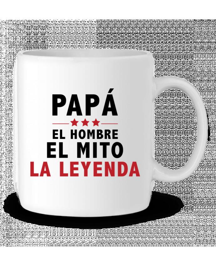 Taza Cerámica PAPÁ : EL HOMBRE EL MITO LA LEYENDA por tunetoo