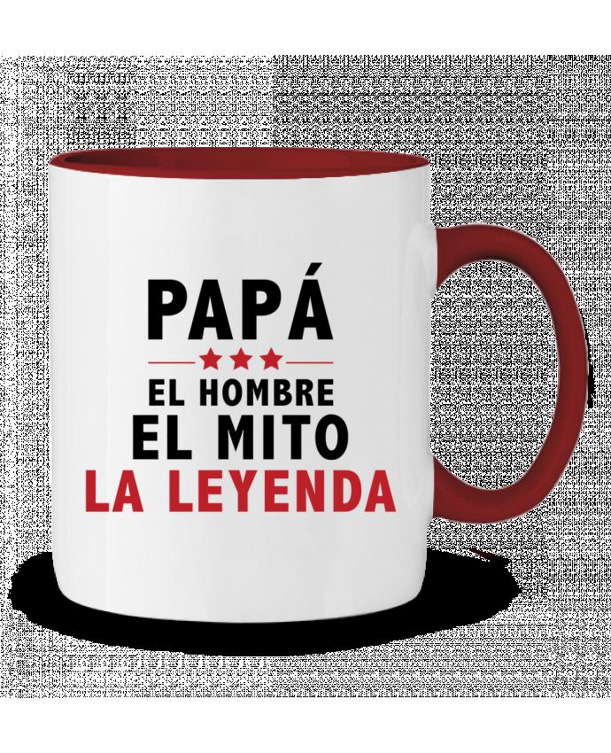 Taza Cerámica Bicolor PAPÁ : EL HOMBRE EL MITO LA LEYENDA tunetoo