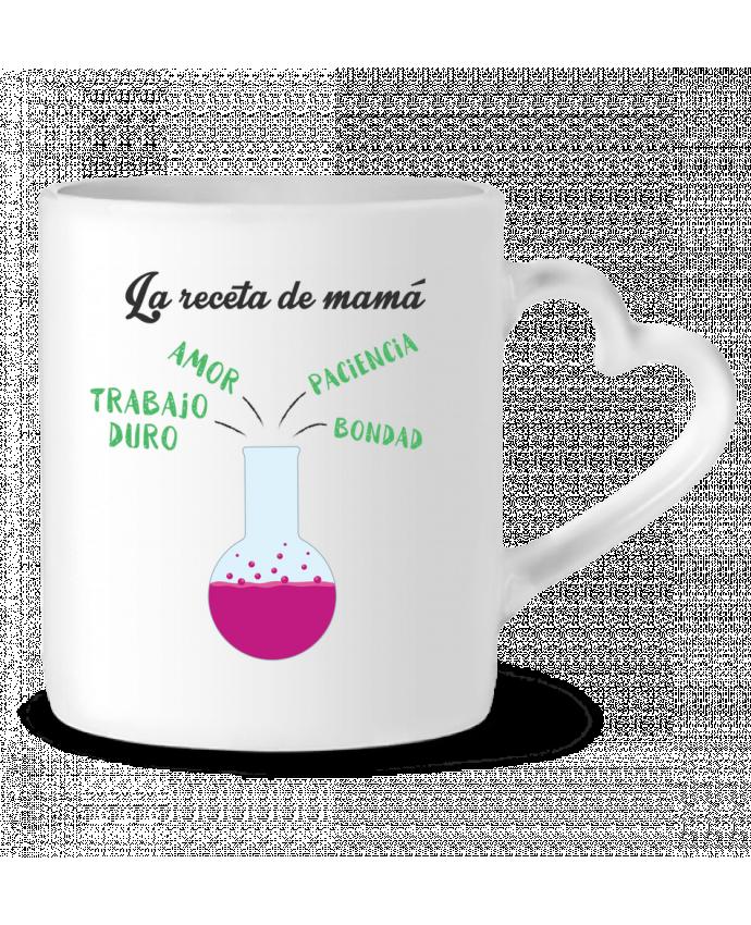 Taza Corazón La receta de mamá por tunetoo