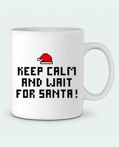 Taza Cerámica Keep calm and wait for Santa ! por tunetoo