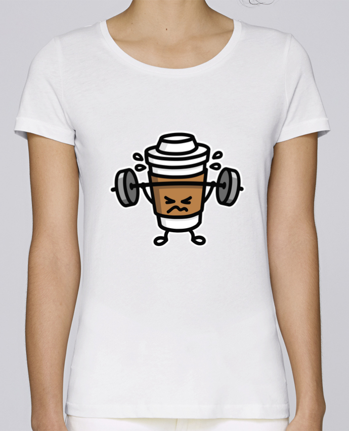 Camiseta Mujer Stellla Loves STRONG COFFEE SMALL por LaundryFactory