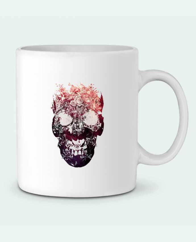 Taza Cerámica Floral skull por ali_gulec
