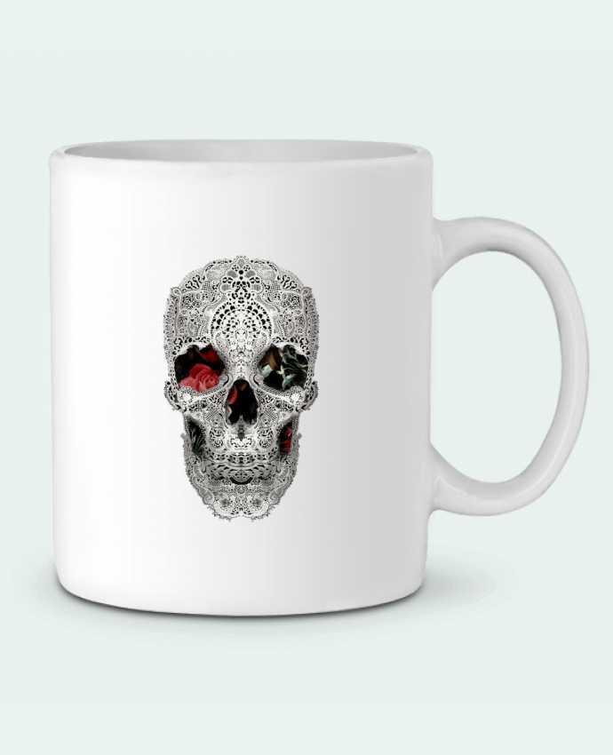 Taza Cerámica Lace skull 2 light por ali_gulec