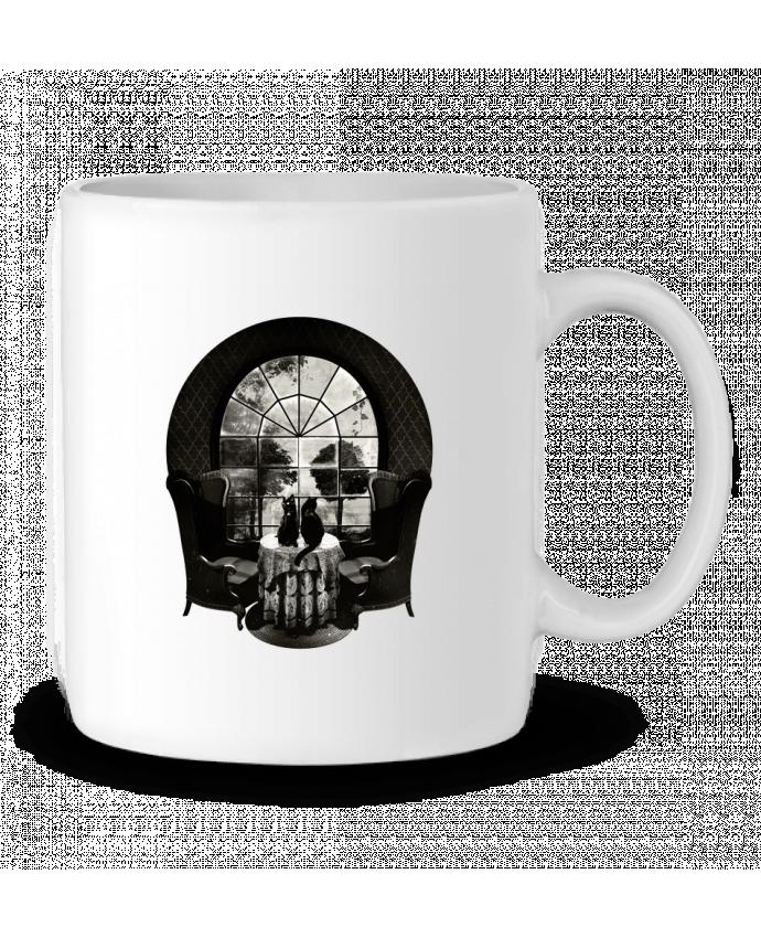 Taza Cerámica Room skull por ali_gulec