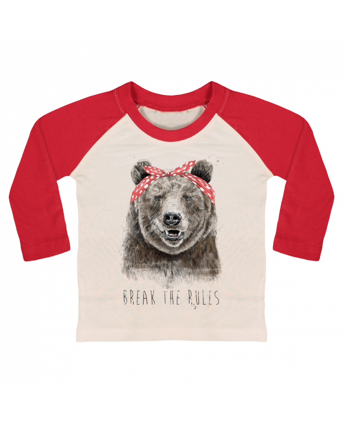 Camiseta Bebé Béisbol Manga Larga Break the rules II por Balàzs Solti