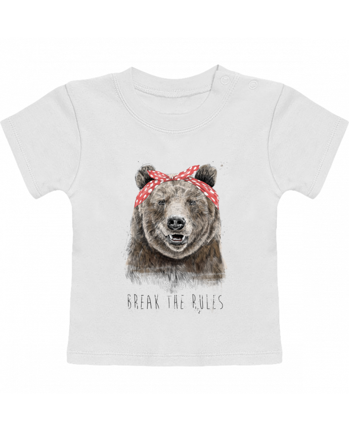 Camiseta Bebé Manga Corta Break the rules II manches courtes du designer Balàzs Solti