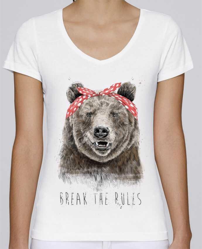 Camiseta Mujer Cuello en V Stella Chooses Break the rules II por Balàzs Solti
