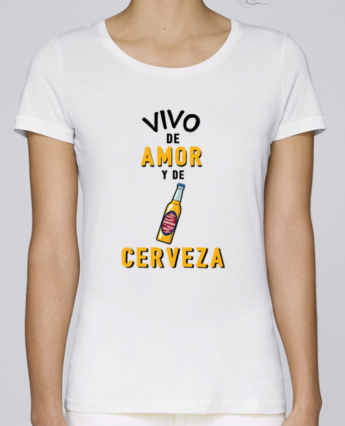 Camiseta Mujer Stellla Loves Vivo de amor y de cerveza por tunetoo