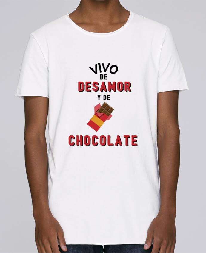 Camiseta Hombre Tallas Grandes Stanly Skates Vivo de desamor y de chocolate por tunetoo