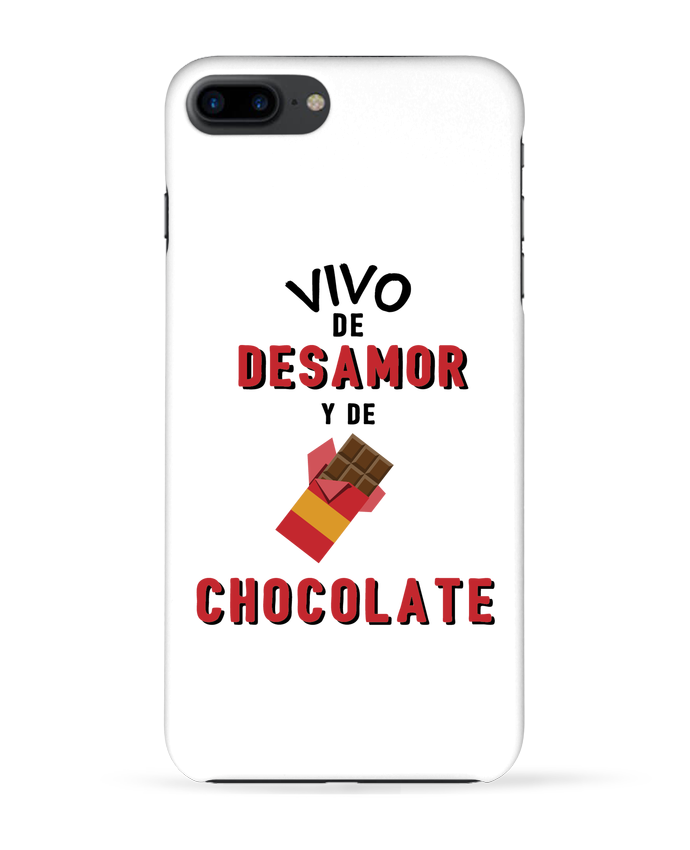 Carcasa Iphone 7+ Vivo de desamor y de chocolate por tunetoo