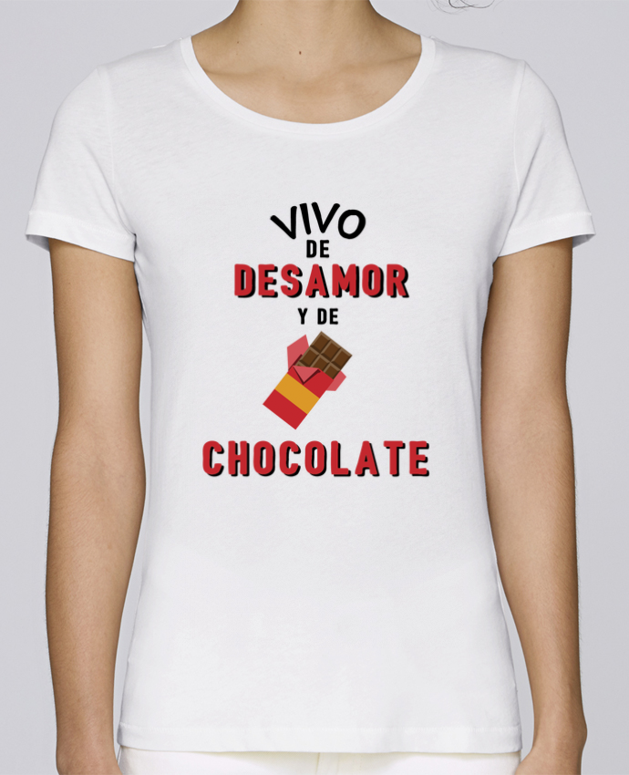 Camiseta Mujer Stellla Loves Vivo de desamor y de chocolate por tunetoo