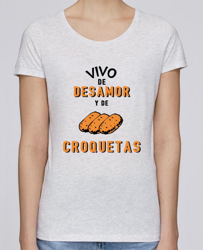 Camiseta Mujer Stellla Loves Vivo de desamor y de croquetas por tunetoo