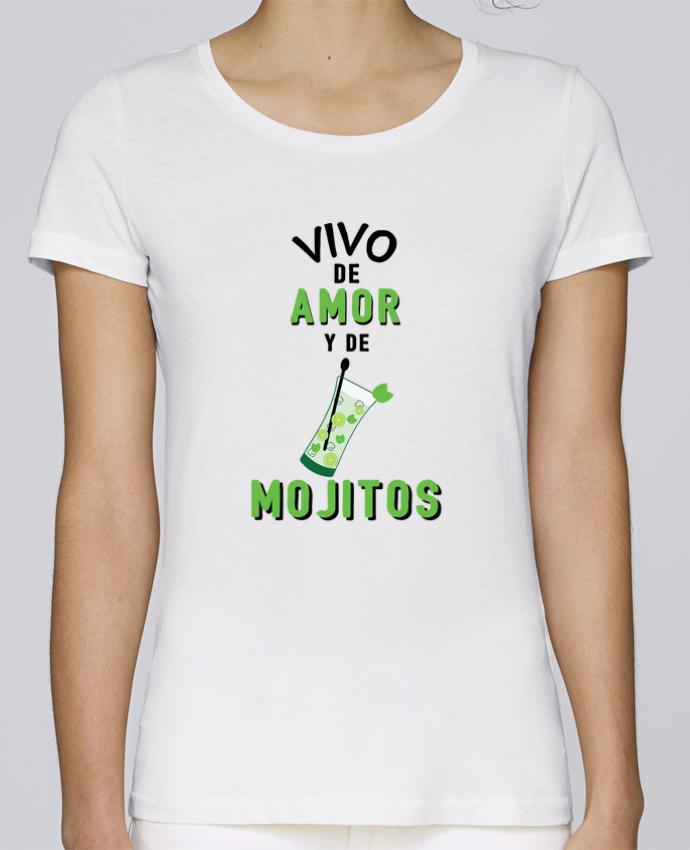 Camiseta Mujer Stellla Loves Vivo de amor y de mojitos por tunetoo