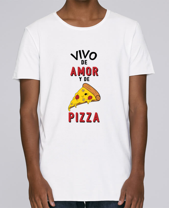 Camiseta Hombre Tallas Grandes Stanly Skates Vivo de amor y de pizza por tunetoo